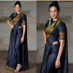 Kurti Designs Party Wear, Kurta Designs, Blouse Designs, Dress Designs, Trendy Sarees, Stylish Sarees, Sari Dress, Saree Blouse, Recycled Dress