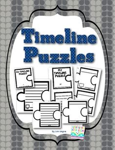 Timeline Puzzles - New Fun Interactive way to teach timelines. This download includes 8 different timeline puzzles and instructions/tips on how to use them. You can choose how to use them for your class as a whole, or you can pick and choose the different options to differentiate your instruction. (Kindergarten and First Grade Social Studies) $