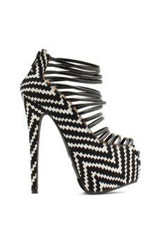 Weave It Here Strappy Platform Heels