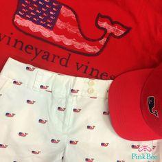 Vineyard Vines   #edsftg   whale flag Shorts   Pink Bee