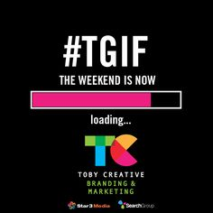 It's been a great week, but #TGIF the weekend is now loading...  If you think your marketing efforts should have, or could have been made easier, than start next week by calling the team at Toby Creative at (08) 9386 3444 to make an appointment to receive some insight and ideas to improve your marketing actions.  http://www.tobycreative.com.au  #tobycreative #branding #marketing #digitalagency #seo #socialmedia #webdesign #ppc #googlepartner #googleadwords #copywriting #heretohelp