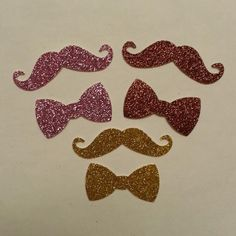 50 Pack Mustache and Bowtie die cut shapes by StacheMeIfYouCan, $4.50