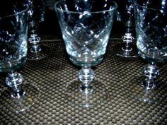 Vintage Diamond Cut Sherry Glasses
