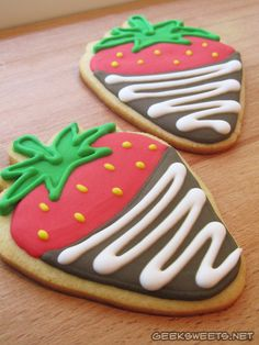 Chocolate-Dipped Strawberry Deluxe Sugar Cookies at the Vancouver Farmer's Market (Carole's Country Kitchen Booth.)