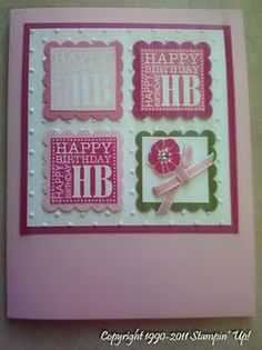 Stampin' Up! Homemade Birthday Cards, Happy Birthday Cards, Homemade Cards, Card Birthday, Birthday Bash, Abc Cards, Kids Cards, Craft Cards, Card Making Inspiration