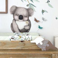 Australian Nursery, Nursery Themes, Themed Nursery, Kids Lamps, Eucalyptus Leaves, New Mums, Nursery Inspiration, Australian Artists, Baby Room