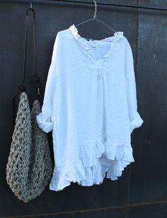 White Linen Top MegbyDesign