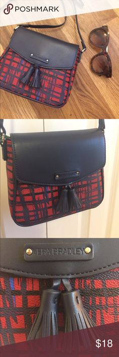 Vera Bradley Crossbody Purse NWT Brand new never used Purse! Tag still attached. Navy and red plaid pattern, would be great when fall rolls around. Bags Crossbody Bags