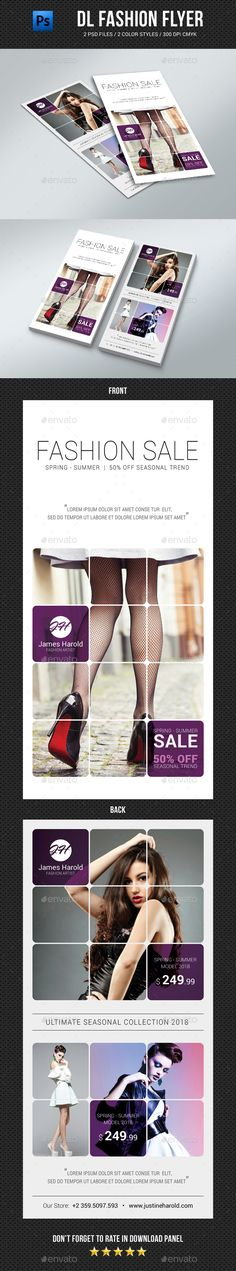 DL Fashion Flyer Template PSD