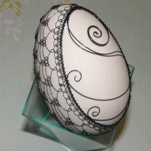 Husí drátované vejce 3 Egg Designs, Egg Art, Egg Decorating, Wire Art, Easter Eggs, Jewelry Design, Christmas Ornaments, Tattoos, Creative