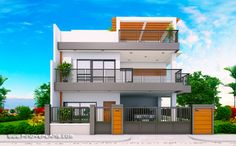 Sistemas constructivos Modern 2 Storey House Design With 3 Bedroom - Engineering Discoveries Your G 3 Storey House Design, 2 Storey House, Duplex House Design, House Front Design, Modern House Design, Apartment Design, Modern House Plans, House Floor Plans, Two Storey House Plans