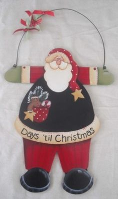 How many days until Christmas Santa Christmas Ornaments To Make, Very Merry Christmas, Christmas Love, Outdoor Christmas, Christmas Pictures, Beautiful Christmas, All Things Christmas, Christmas Crafts, Santa Paintings