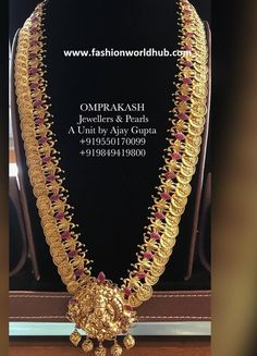 Kasulaperu long chains are present trend. We all know that kasulaperu haram is one of the trended setter since days and this design never went out of fashion Chains, Indian Architecture, Jewels, Diamond, Om, Collections, Jewellery, Design, Bijoux