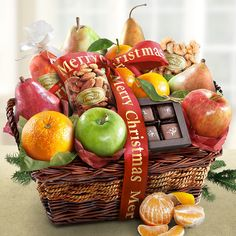 Merry Christmas Orchard Delight Fruit Basket | FREE SHIPPING from All About Gifts & Baskets (http://www.aagiftsandbaskets.com/merry_christmas_orchard_delight_fruit_basket.html)