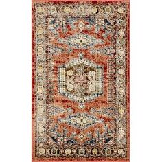 Bloomsbury Market Skye Oriental Terracotta Area Rug & Reviews | Wayfair
