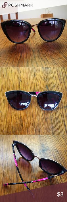 Floral Cat Eyed Sunglasses Cat eye shaped sunglasses with floral design on the side Target Accessories Sunglasses