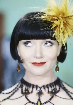 Essie Davis as Phryne Fisher -- love that perfect bob and makeup