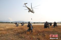 A photo taken during the high-intensity combat assessment of the People's Liberation Army Navy.