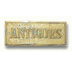 Antiques Brass Plaque SM2-BR-ANTIQUE