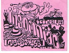 The first rave flyer I ever did, Insomniac early '90s.