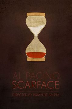 Modern tribute poster of 'Scarface' created by Ibraheem Yousef