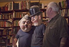 Frank & I putting on some interesting disguises.