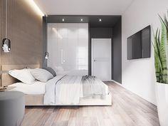 Bedroom on Behance Bedroom False Ceiling Design, Luxury Bedroom Design, Bedroom Closet Design, Home Room Design, Home Interior Design, Condo Bedroom, Master Bedroom Interior, Modern Master Bedroom, Small Room Bedroom