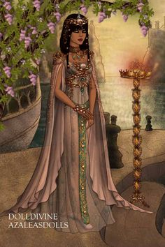 Cleopatra ~ by alysse ~ created using the LotR Hobbit doll maker | DollDivine.com
