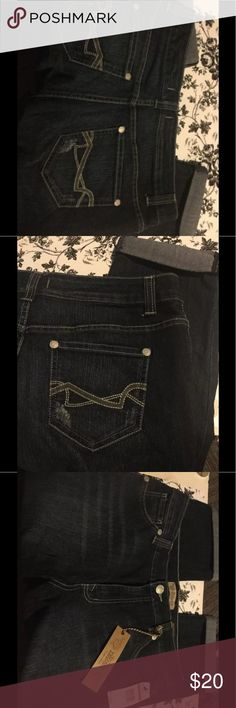 Capri Cropped Stretch Ladies 14 Petite Short NEW Nine West Boho Capri Cropped Stretch Jeans New W/ Tags Ladies 14 Petite Short Nine West Jeans Ankle & Cropped