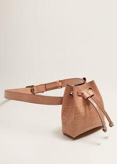 Mango Croc-Effect Belt Bag Leather Accessories, Fashion Accessories, Leather Handbags, Leather Bag, Mango Bags, Waist Purse, Bum Bag, Medium Bags, Small Bags