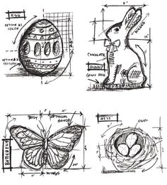 "MSRP = 22.00 // OUR PRICE = 17.49  Name ::  ""Easter Blueprints"" Stamp Set  Details :: Rubber & Cling Mounted Stamp Set  Item # :: CMS144  Brand :: Tim Holtz + Stampers Anonymous  Material :: Red Rubber + Cling  Pieces :: 4 pcs  Size :: Stamp Sheet = 7 x 8.5 inches"