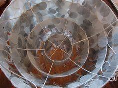 Wax Paper Capiz Shell Chandelier