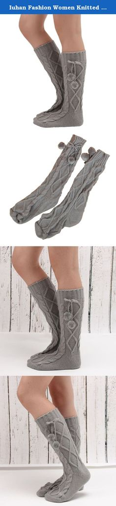 Iuhan Fashion Women Knitted Long Boot Socks Over Knee Thigh High Stocking (Gray). Women Knitted Long Boot Socks Over Knee Thigh High Stocking Specifications: Gender:Women Material:Polyester Pattern type:Solid Length:44cm Width:9cm Quantity:1 Pair Season:Winter,Fall Package include:1 Pair Women Leggings.