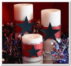 4th of july candles
