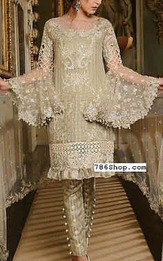 Light Green Chiffon Suit | Buy Maria B Pakistani Dresses and Clothing online in USA, UK