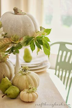 Craftberry Bush: The softer side of Autumn - A green and white table setting