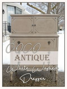 DIY antique dresser transformation using Annie Sloan Coco and Old Ochre Chalk paint with dark and clear wax to create a new elegant old world dresser Annie Sloan Chalk Paint Old Ochre, Coco Chalk Paint, Annie Sloan Old White, Chalk Paint Colors, Annie Sloan Paints, White Chalk Paint, Chalk Painting, Painting Furniture, Furniture Projects