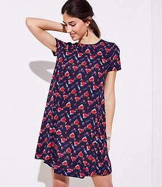 a414e35bcc Shop LOFT for stylish women s clothing. You ll love our irresistible  Petaled Smocked Back Sleeveless Swing Dress - shop LOFT.com today!