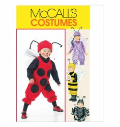 M 6180 Infants'/Toddlers' Bug Costumes size 1/2 - 4