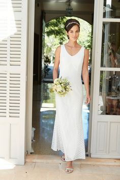 Elegant wedding dress for mature brides