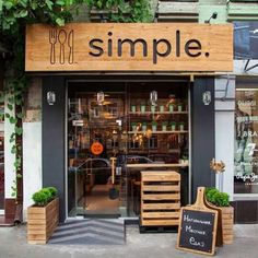Devanture boutique - Brandon Agency was posed with a challenge: Design an innovative fast food restaurant of the future, complete from its corporate identity to its interior. Cafe Restaurant, Fast Food Restaurant, Restaurant Ideas, Healthy Restaurant Design, Restaurant Entrance, Organic Restaurant, Restaurant Names, Restaurant Interiors, Coffee Shop Interior Design