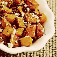 Low Glycemic - Butternut Squash w/ rosemary, pecans, and gorgonzola