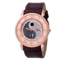 #Reloj con caja de #ACERO chapado en #oro especial I.P. #rosa. - #CristianLay #marron #equilibrio #CristianLay #MiguelAngelLeal