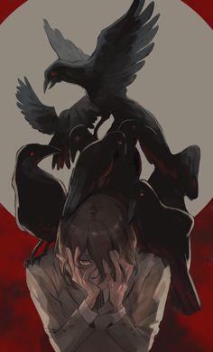Is this a crossover Dark Anime, Bungou Stray Dogs, Akira Kurusu, Shin Megami Tensei Persona, Anime, Persona, Persona 5 Anime, Fan Art, Goro Akechi
