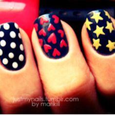 Nails--cute single nail styles