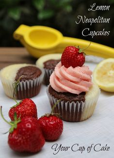 Lemon Neapolitan Cupcakes