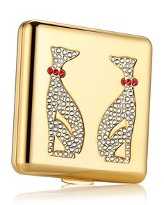 Estee Lauder Limited Edition Year of the Dog Powder Compact by Monica Rich Kosann Holiday Jewelry, Jewelry Gifts, Chinese New Year Gifts, Gift Of Time, Dog Years, Solid Perfume, Face Powder, Estee Lauder, Luxury Jewelry