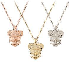 Diamond Sorcerer Mickey Mouse Necklace - 18 Karat