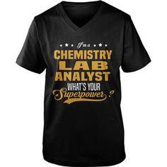 CHEMISTRY LAB ANALYST TSHIRT VNECK