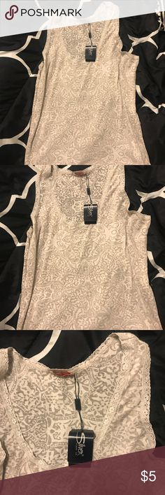 Sheer cream tank top Brand new Silver Jeans Tops Tank Tops
